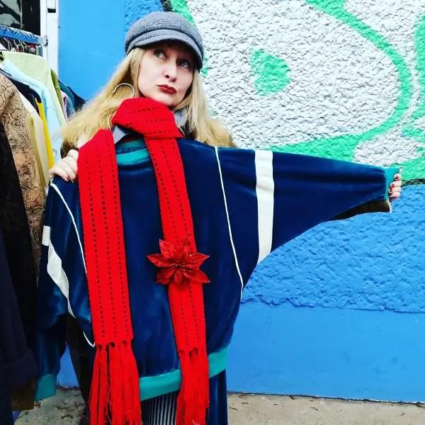 4 ways to wear that vintage velour sweatsuit thrift score