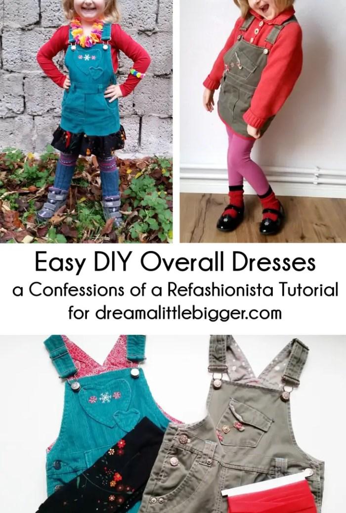Easy DIY Overall Dresses Header