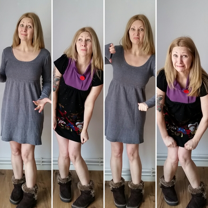 easy diy dress refashion + quick fix mistake before