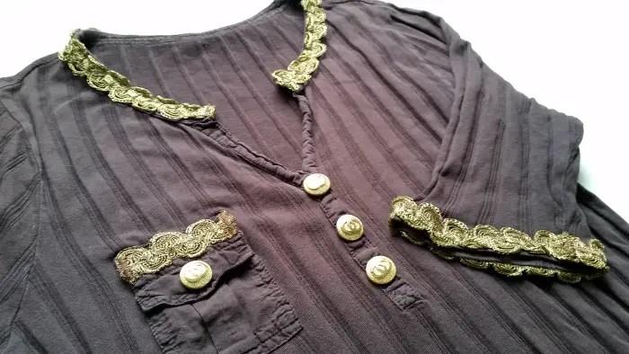 An easy button down t-shirt refashion