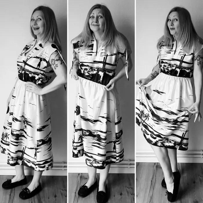 How to shorten a dress at the waist