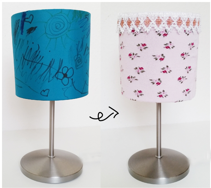 The Upcycled DIY Lampshade