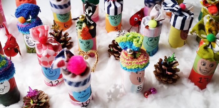 DIY Upcycled Toilet Roll Advent Calendar Elves