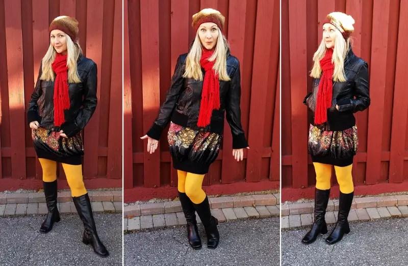 Easy DIY Sweatshirt to Bubble Skirt Refashion Tutorial