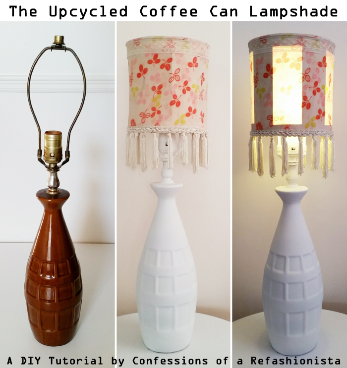 The Upcycled Coffee Can Lampshade