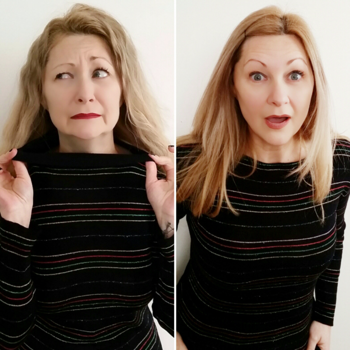 How to easily refashion a mock turtleneck