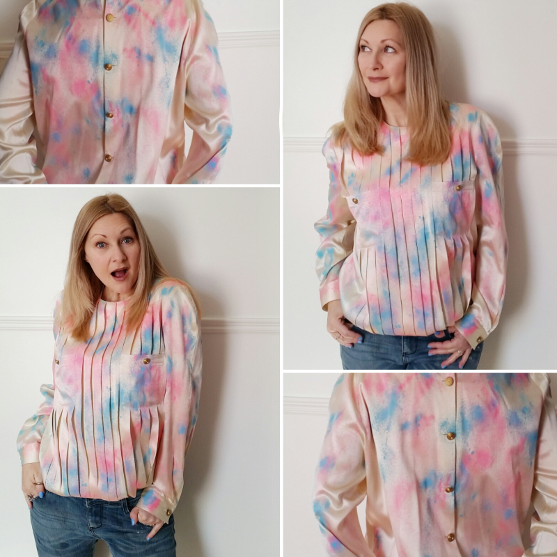 How to Cover Stains: A No Sew Blouse Refashion