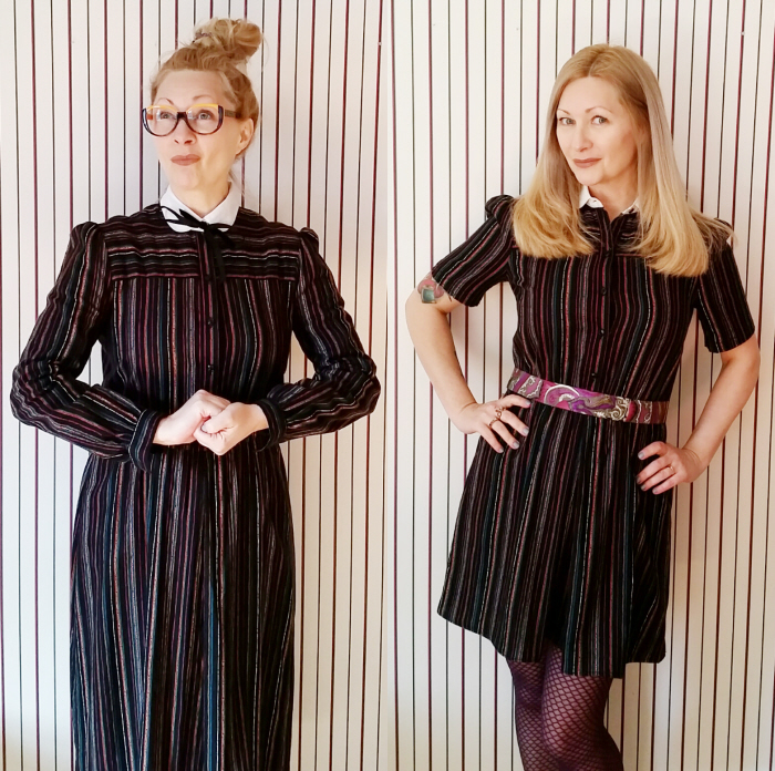 Easy Dowdy Vintage Dress Refashion