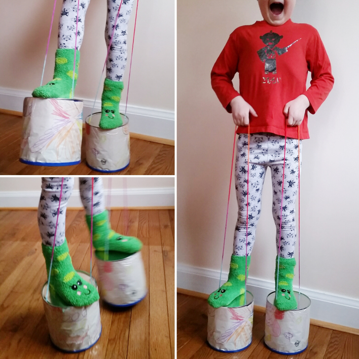Upcycled DIY Can Stilts