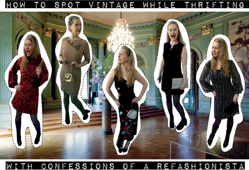 How to spot vintage while thrifting + no sew DIY tips