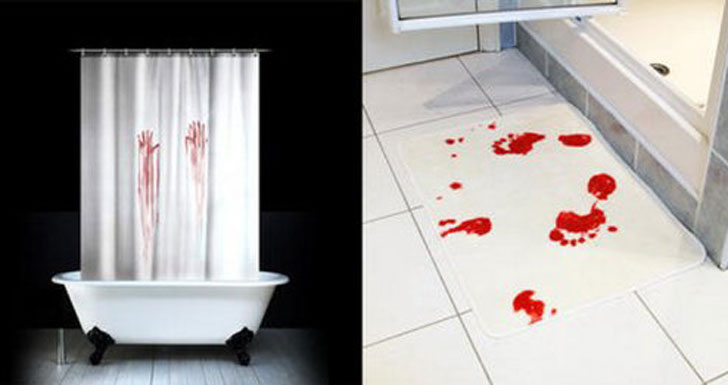 Bloody Handprint Shower Curtain Awesome Stuff 365