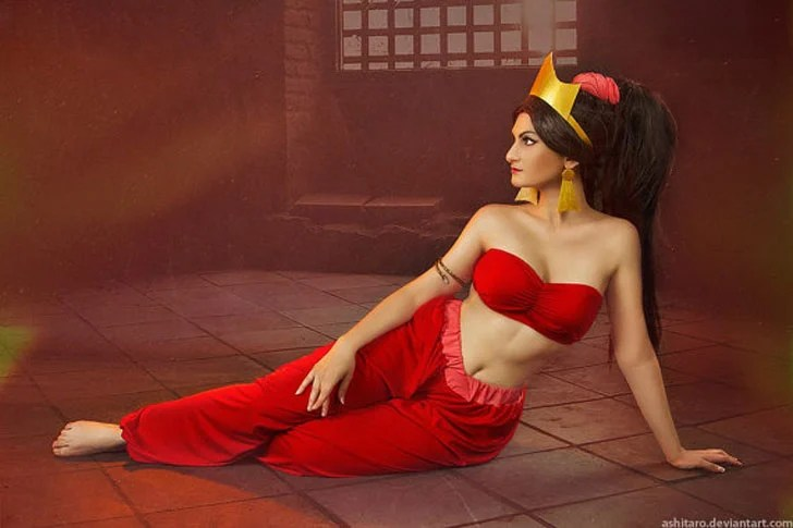 Aladdin Jasmine Red Cosplay