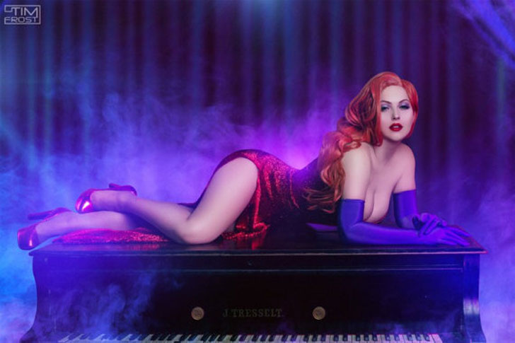 Traje Cosplay de Jessica Rabbit