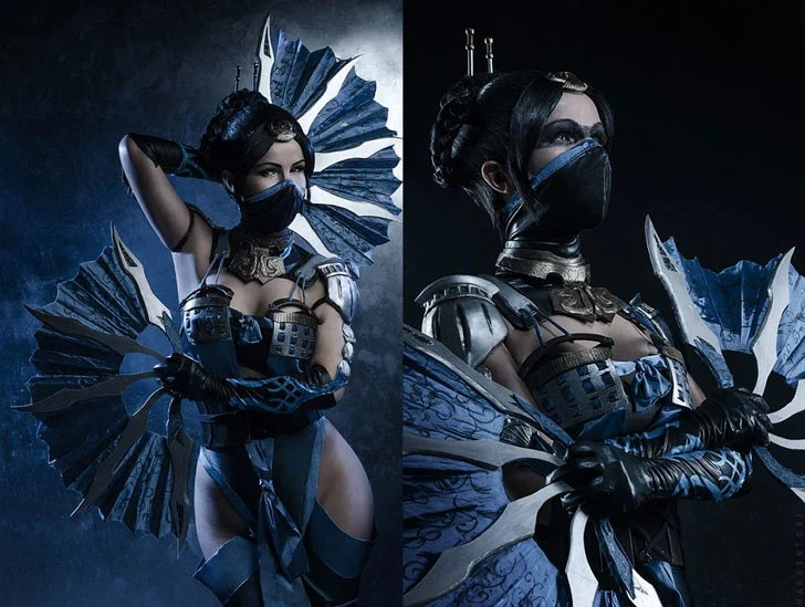 Kitana Mortal Kombat Traje Cosplay - Cosplay Ideas For Girls
