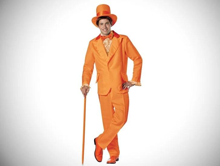 Fato de smoking laranja mudo e mais burro para homem