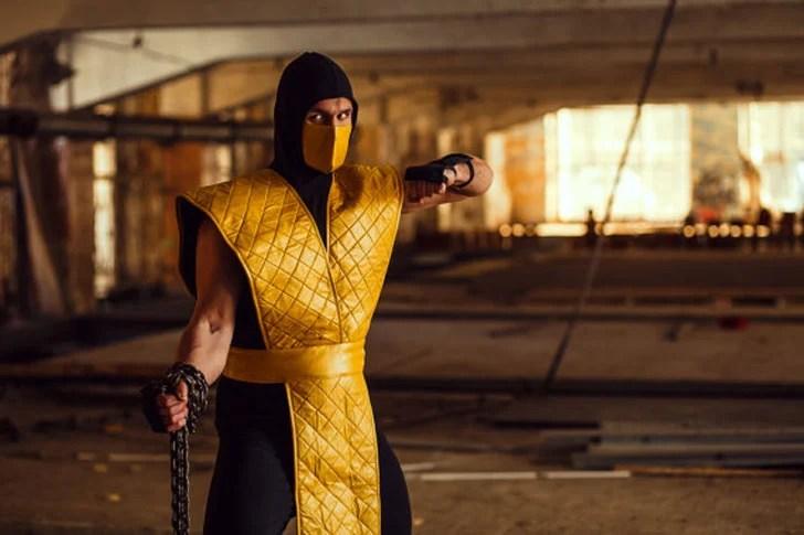 Cosplay de Mortal Kombat Scorpion - ideias de cosplay para rapazes