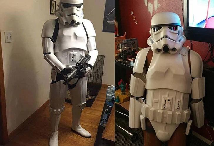 Kit completo Stormtrooper de Guerra nas Estrelas