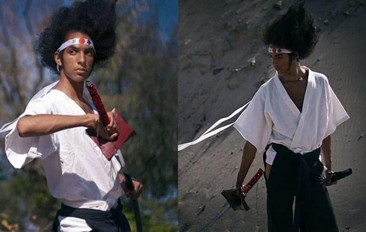 Afro Samurai - Afuro Samurai Anime Costume - Trajes de anime masculino para rapazes