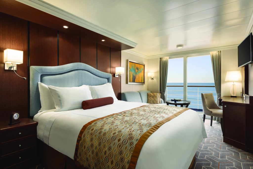 A Veranda Stateroom onboard Oceania's Riviera Oceania Cruises
