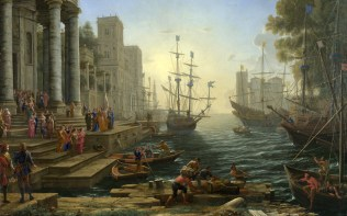 Full title: Seaport with the Embarkation of Saint Ursula Artist: Claude Date made: 1641 Source: http://www.nationalgalleryimages.co.uk/ Contact: picture.library@nationalgallery.co.uk Copyright (C) The National Gallery, London