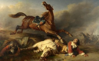 Full title: An Episode on the Field of Battle Artist: Charles-Philog¨¨ne Tschaggeny Date made: 1848 Source: http://www.nationalgalleryimages.co.uk/ Contact: picture.library@nationalgallery.co.uk Copyright (C) The National Gallery, London