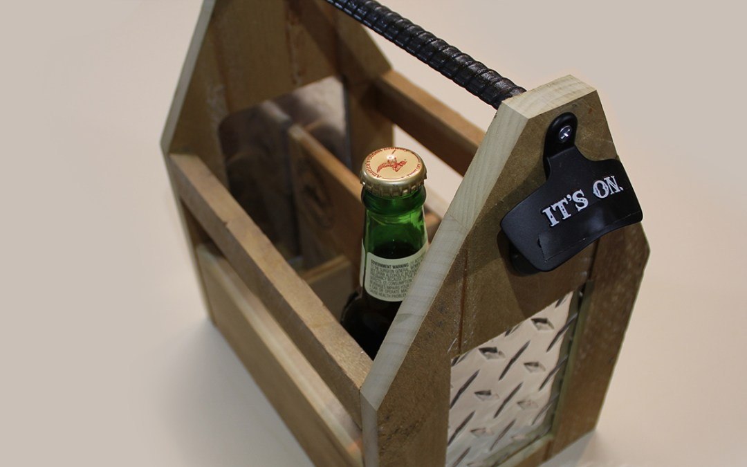 Badass Beer Caddy made with Upcycled Materials