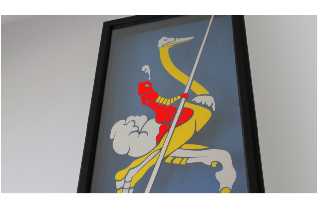 Joust Video Game Art in a Shadow-Box