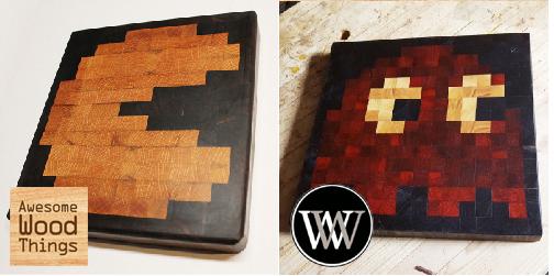 Pac-Man End Grain Cutting Board