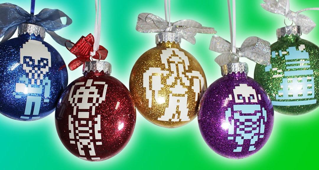 Doctor Who Vinyl & Glitter Christmas Ornaments