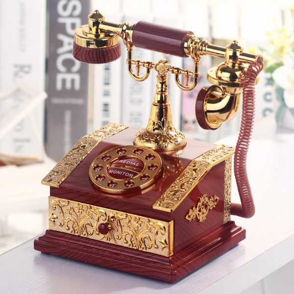 Telephone Figurine Desktop Jewelry Box