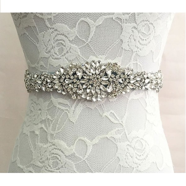 Satin Rhinestone Wedding Bridal Belt 3