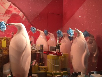 penguins - Selfridges display