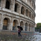 Day 2 - Dancing in the rain outside the Colosseum