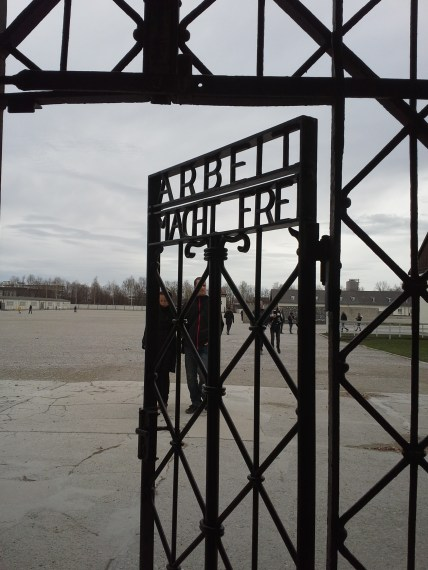 "Entrance to Dachau Concentration Camp - ""Work will make you free"""