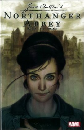 Aaaa? Marvel + Northanger Abbey? How am I just now finding out about this? I do love the dark colors used on this cover and now need to find out more about this paring!
