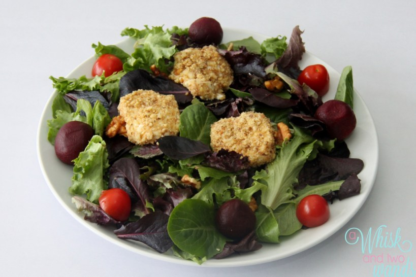 Mixed Green and Beet Salad topped with Candied Walnut ...