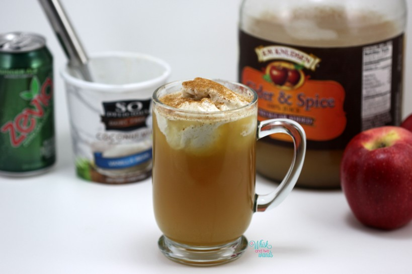 Sparkling Ginger Apple Cider Float