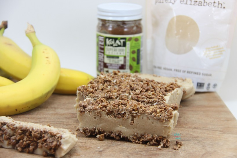 Frozen Banana Cream Granola Bars