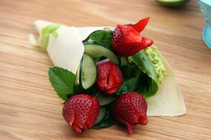 Cucumber Strawberry Bouquet Wrap