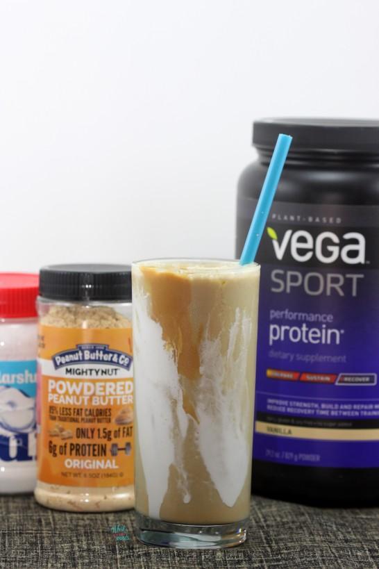 Fluffernutter Protein Shake