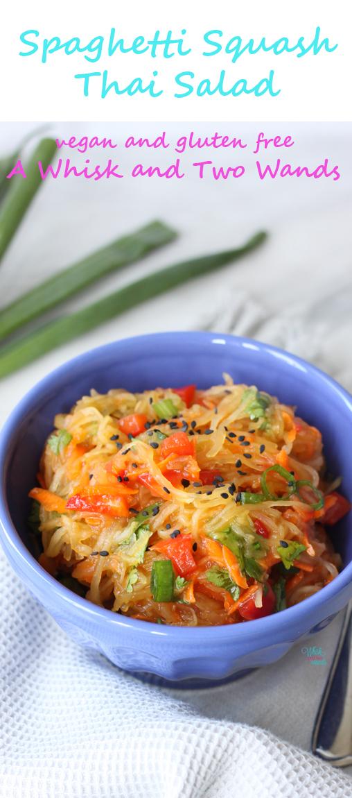 Spaghetti Squash Thai Salad