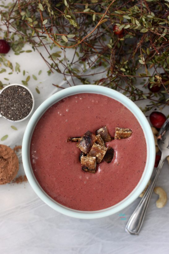 Cranberry Cocoa Bliss Smoothie Bowl