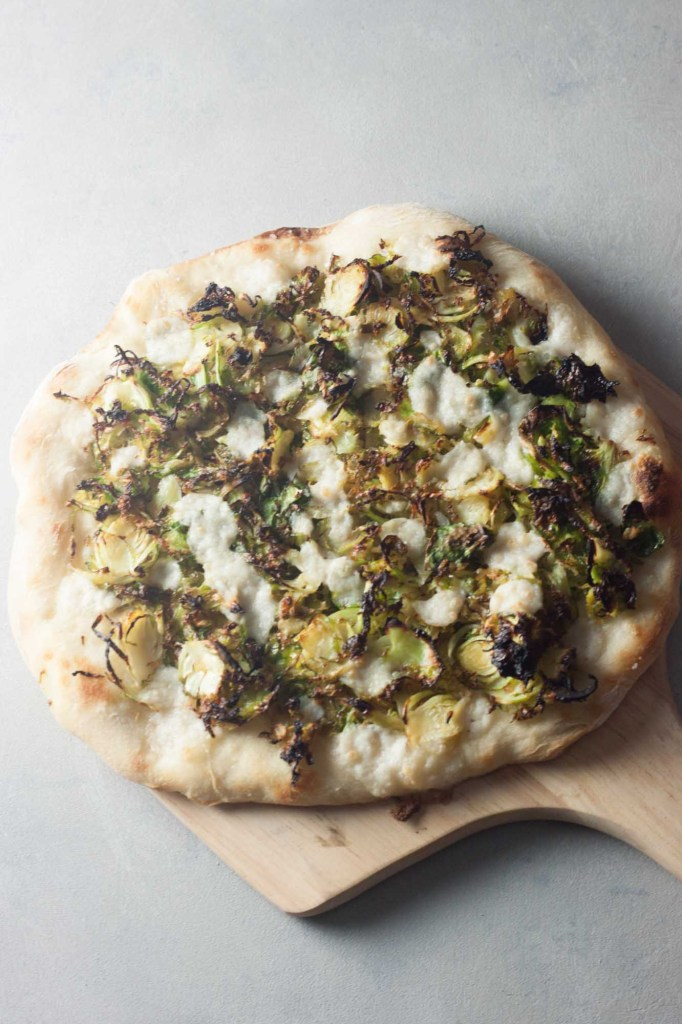Roasted Brussels Sprouts Neapolitan Pizza