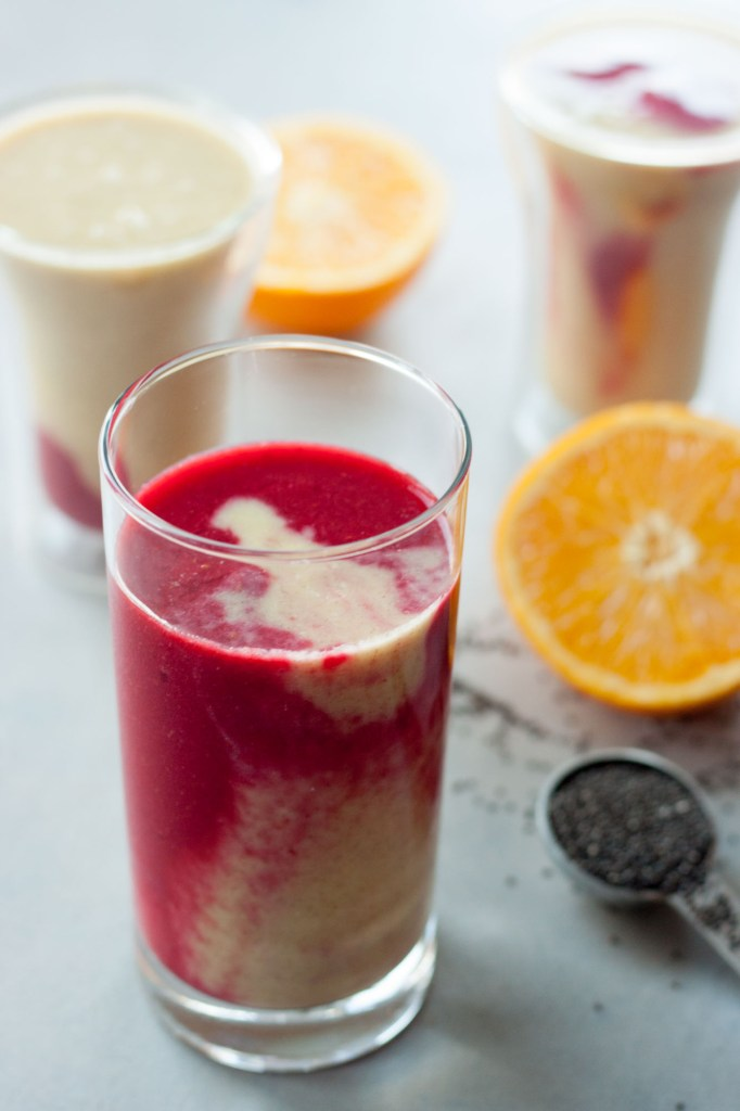 Tropical Berry Kombucha Smoothie