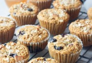 Lemon Blueberry Muesli Muffins, A Whisk and Two Wands