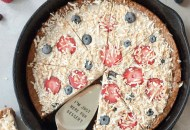 Cast Iron Ice Cream Cookie Pizza, A Whisk and Two Wands