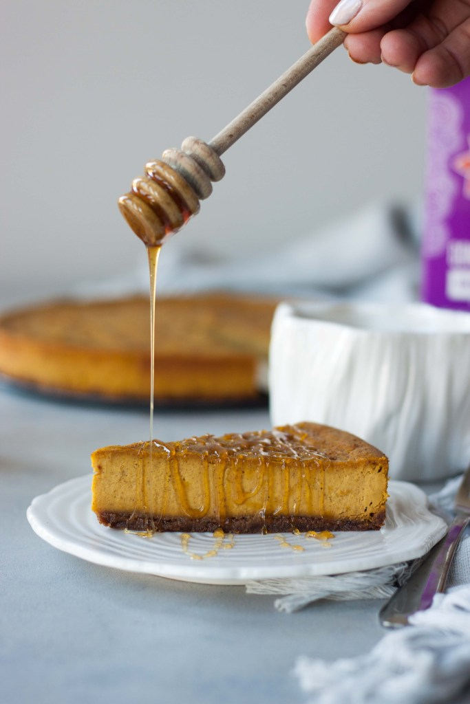 Vegan Baked Pumpkin Chai Cheesecake