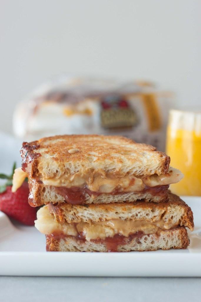 Grilled Peanut Butter Jam Nana Sandwich