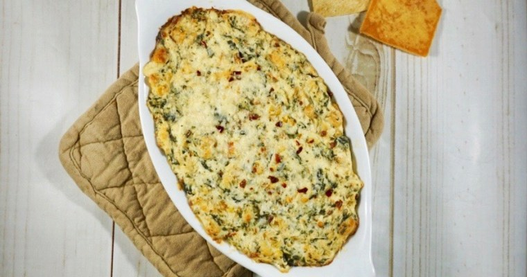 Southern Style Corn and Spinach Dip