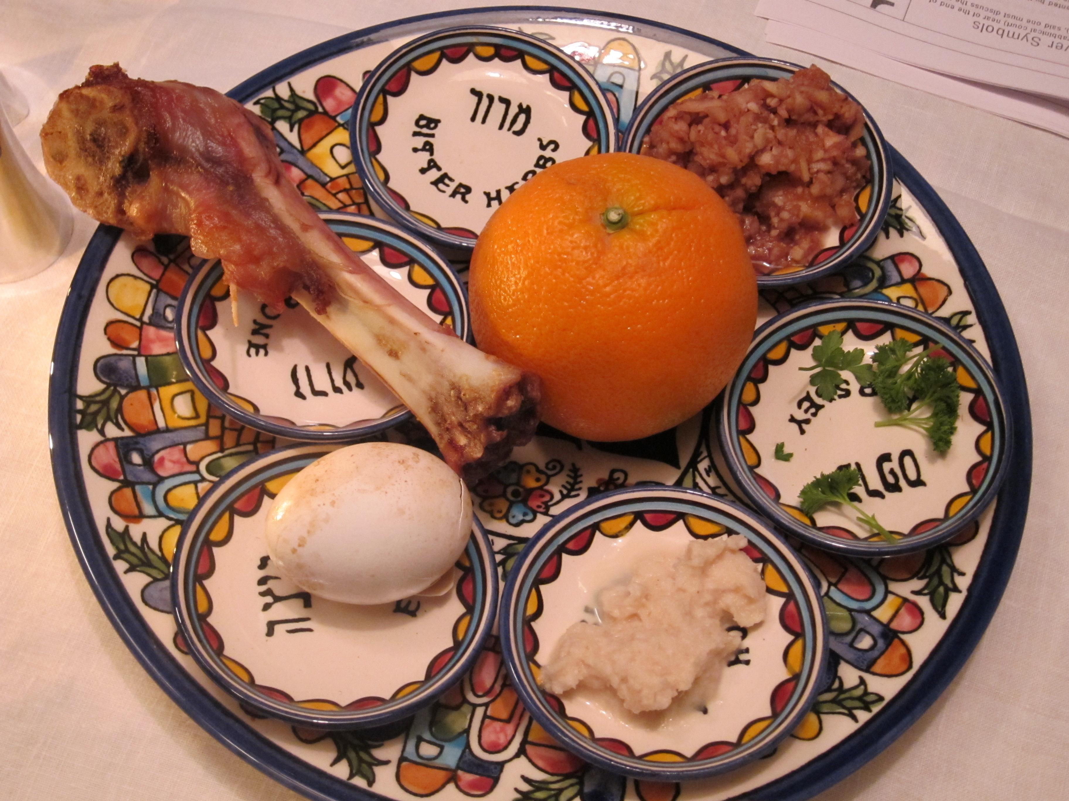 Image result for seder plate orange